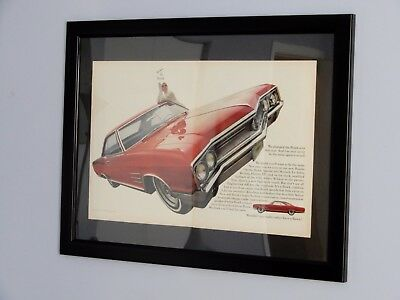 Large Framed 1965 Buick Wildcat Coupe Classic Ad - Vintage American 60S