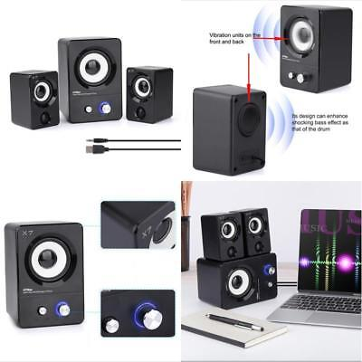 Computer Speakers USB Powered Multimedia Stereo Subwoofer for Laptop Desktop New
