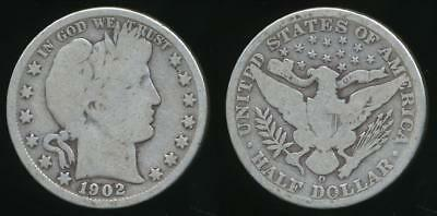 United States, 1902-O Half Dollar, Barber (Silver) - Good