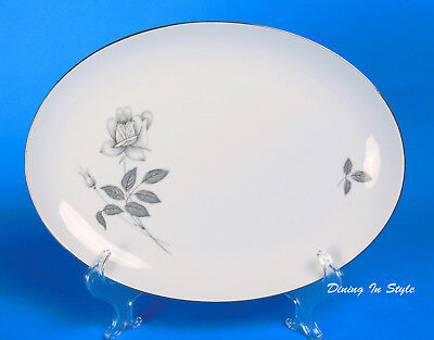 """12-1/4"""" Oval Serving Platter, EXCELLENT! Fine China of Japan, Queens Royal"""