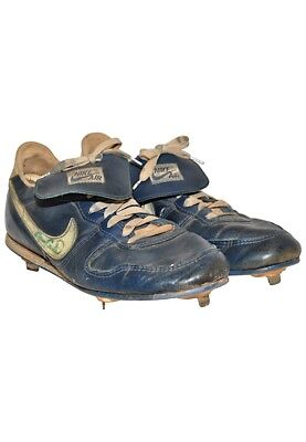Pair Of 1980's Gary Carter Signed Game Used NY Mets Cleats Shoes With JSA COA