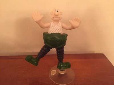 wallace and Gromit Collectible Wallace figurine w/ suction cup base.