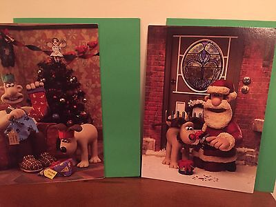 wallace and Gromit Collectible Christmas Cards Set of 10. Rare
