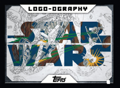 Topps Star Wars Card Trader LOGO-OGRAPHY Marathon Millenium Falcon & Tie Figther