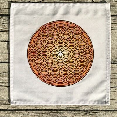 Crystal Grid Cloth - Orange and Yellow energy of the Sun