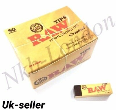 RAW Rolling Paper Roach Filter Tips Chlorine Free Filter tips/Roach Book UK P&P