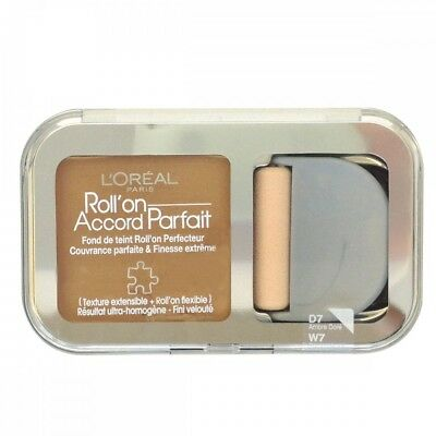 L'OREAL Roll' On True Match Foundation Accord Parfait  D7 Golden Amber New