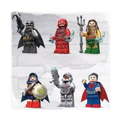 Justice League Movie Custom Minifigures, Inc: Aquaman, Flash, Cyborg - Fits Lego