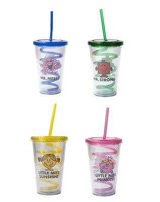 Mr Men Little Miss Beverage Cup With Curly Straw Strong/ Messy/ Princess/ Sunshi