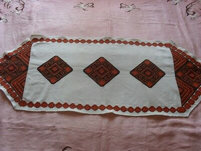 Gorgeous Vintage Hand-Embroidered Table Runner