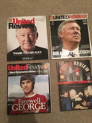 Manchester United Programmes United Review Collectables Alex Ferguson 1999
