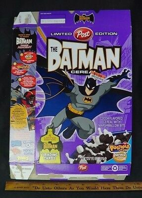 2005 Batman Post Cereal Box With Trading Cards Flat