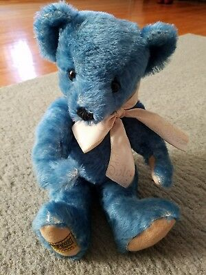 Blue Limited edition #147 of 500 MerryThought teddy bear Made in England