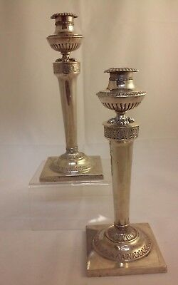 Pair of German 13 Loth Silver Candlesticks, Bahlsen, Hannover, Germany