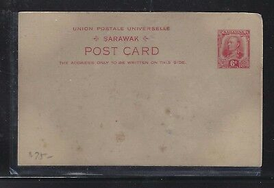 Sarawak Postal History  (P1509B) Cover  6C Psc Red Unused, Sl Stain