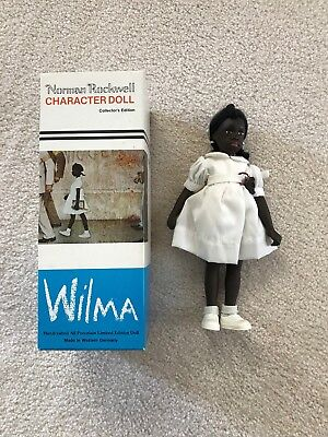 Norman Rockwell Wilma African American Black Girl Doll Mary Moline Germany 1981