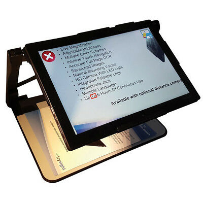 Mercury 12 Tablet Handheld Portable Video Magnifier and OCR Reader