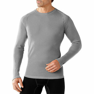 Smartwool NTS MID 250 Crew Top, Mens Shirt, Light Gray Heather, S