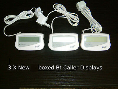 3 New Boxed Bt Caller Id Display Reminder Units