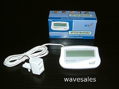 BT CALLER ID DISPLAY  REMINDER UNIT (New & Boxed)