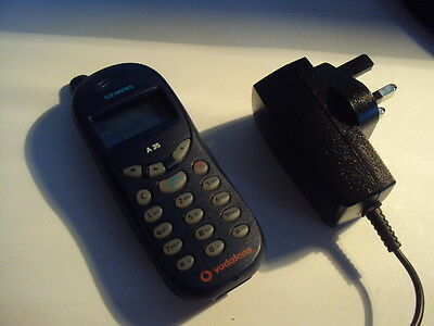 Original Siemens A35 On Vodafone Mobile Phone+Charger+New Battery