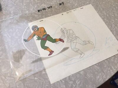 He-Man Masters Of The Universe Original Animation Cel, MAN AT ARMS TRAPPED!!!