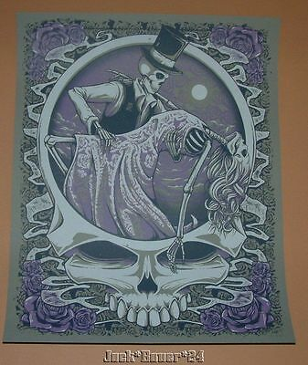 Grateful Dead One Last Dance Poster Half Hazard Press SN Steel Variant Purple