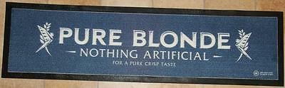 Collectible Pure Blonde Nothing Artifical  Rubber Backed Bar Runner - Excellent