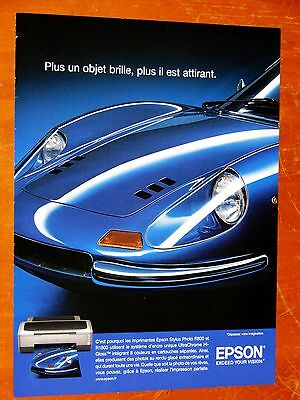 CLASSIC EXOTIC 60S or 70S FERRARI DINO 246 GT FOR 2006 EPSON PRINTER FRENCH AD