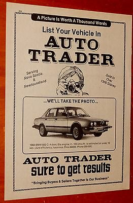 1982 Bmw 528I For 1984 Halifax Ns Auto Trader Classifieds Ad - Retro Vintage 80S
