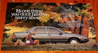 Large 1991 Chevy Corsica Sedan In Grey American Ad - Retro 90S Chevrolet