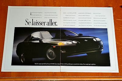 French 1991 Lexus Ls 400 Sports Car Canadian Ad / Retro 90S Old School