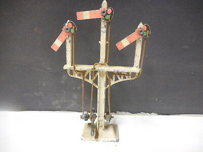 Made In England Crescent Triple  Gantry Signal In Good Order Freepost Australia