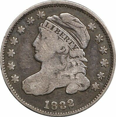 1832 Capped Bust Dime, VG / F