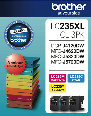 NEW Brother LC235XL CL3PK LC235 XL Colour Value Pack