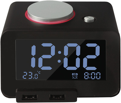NEW GVAC1 Alarm Clock with Dual USB Charger
