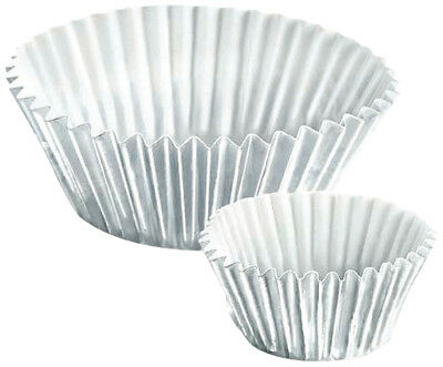 NEW Knightsbridge Pme 13101 Greaseproof Metallic Silver Cupcake Cases 30 Pack