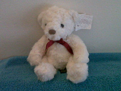 Adorable White Russ Berrie Teddybear - Schubert
