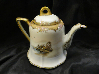 "Japan   Spring   Kiku   Floral   Lamp..  A  Beauty  & ""nippon ""  Tea Pot / Silks"