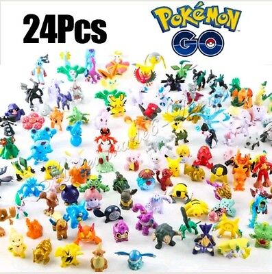 24x Pokemon Figures ~ Goody Bag / Party Favours/ Cake Toppers / Toys / Christmas