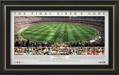 Richmond Tigers 2017 AFL Premiers Signed MCG Ground Shot Panoramic Framed $499