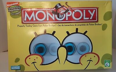 spongebob Squarepants Monopoly Game English French version parker bros complete