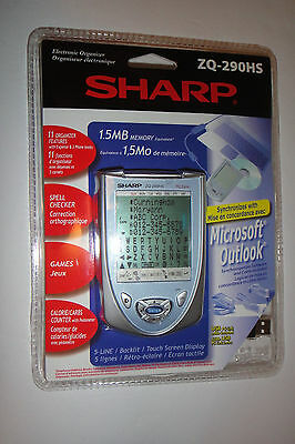 SHARP ZQ-290HS Electronic Organizer. 1.5MB Memory. 11 Features Brand New Sealed!