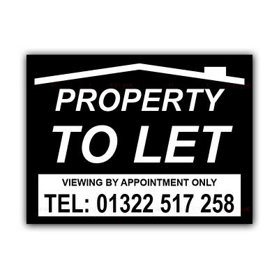 CORCP00027 Property TO LET Correx Sign Boards Estate Agent Shop House Signs X 2