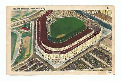 New York Yankees Yankee Stadium Vintage Postcard