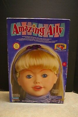 "1999 Playmates 'amazing Ally' Interactive 18"" Doll With Bonus Tea Party Set"