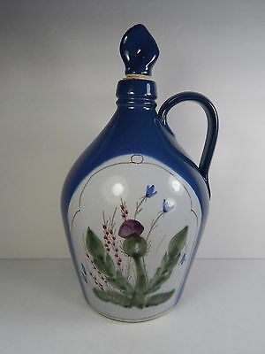 Buchan Portobello Scotland Thistle Jug or Decanter w/ Stopper Thisteware