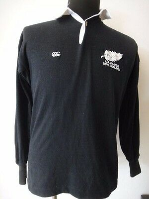 VTG 80's/90's CANTERBURY CCC NEW ZEALAND ALL BLACKS RUGBY JERSEY SHIRT SMALL 38