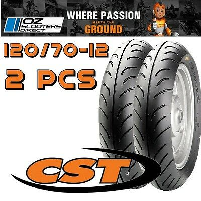 120/70-12 tyre ( 2x tyres), Suit Jiajue Matador, Sprint 2T & many more scooters.
