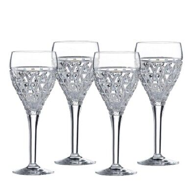 Royal Doulton OBLIQUE Goblets set of 4 crystal wine glasses new in box RRP$299
